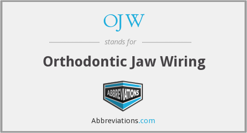 OJW - Orthodontic Jaw Wiring