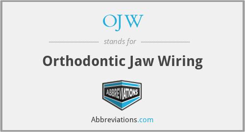Phenomenal Ojw Orthodontic Jaw Wiring Wiring 101 Orsalhahutechinfo