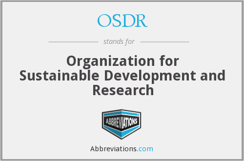 What does OSDR stand for?