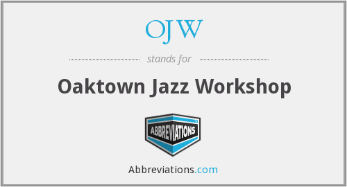 OJW - Oaktown Jazz Workshop