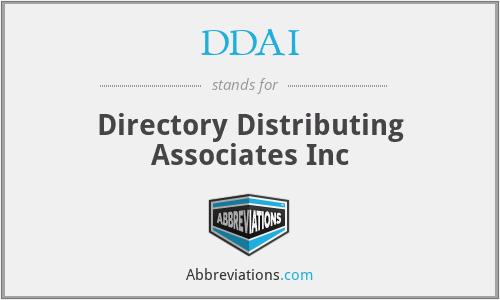 DDAI - Directory Distributing Associates Inc