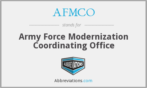 What does AFMCO stand for?