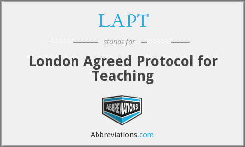 LAPT - London Agreed Protocol for Teaching
