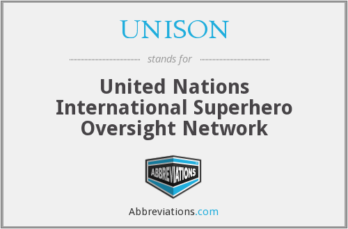 What does UNISON stand for?