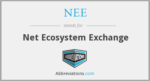 NEE - Net Ecosystem Exchange