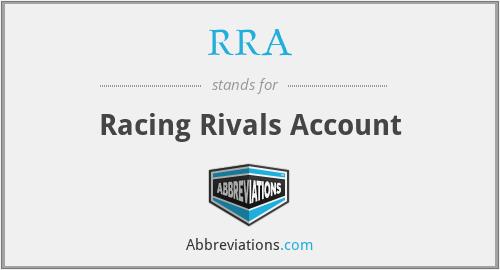 RRA - Racing Rivals Account