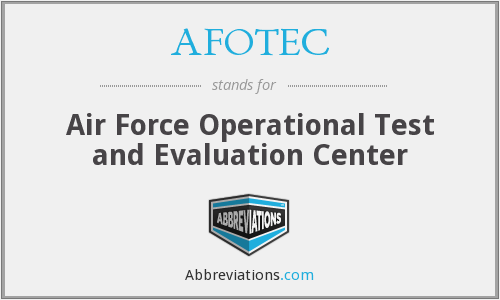 What does AFOTEC stand for?