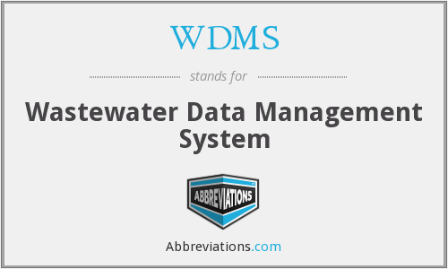 WDMS - Wastewater Data Management System