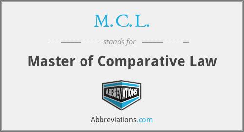 M.C.L. - Master of Comparative Law