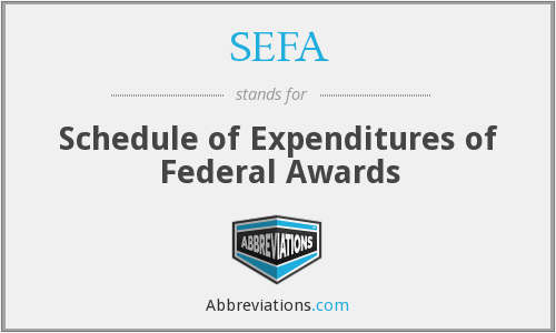 What does SEFA stand for?