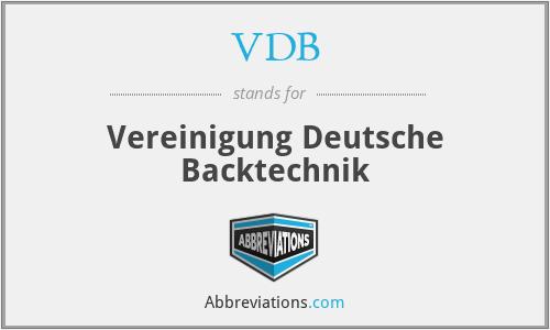 VDB - Vereinigung Deutsche Backtechnik