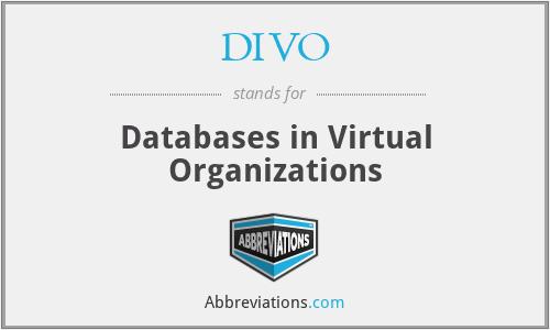 DIVO - Databases in Virtual Organizations