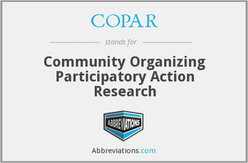 community organizing participatory action research questions 26: getting started: the evolution of a research question and participants due:  double entry journal  participatory action research for community organizing.