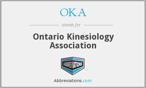 OKA - Ontario Kinesiology Association