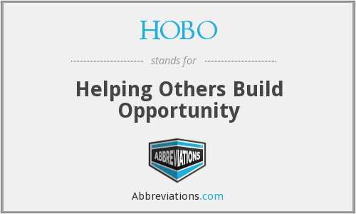 HOBO - Helping Others Build Opportunity