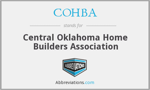 COHBA - Central Oklahoma Home Builders Association