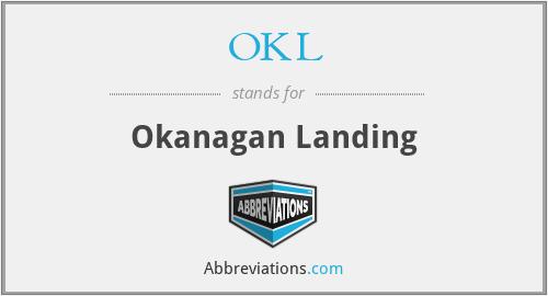 OKL - Okanagan Landing