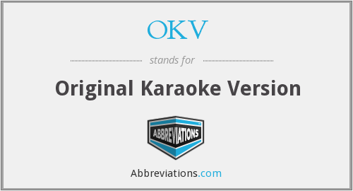 OKV - Original Karaoke Version