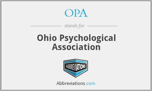 OPA - Ohio Psychological Association