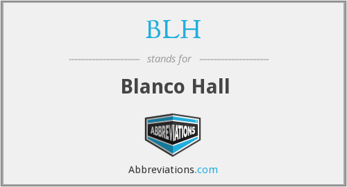 What does blanco stand for?