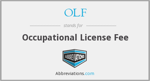 OLF - Occupational License Fee