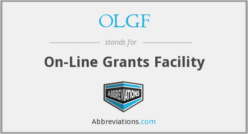 OLGF - On- Line Grants Facility