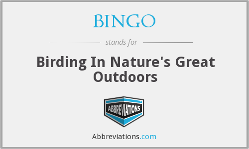 BINGO - Birding In Nature's Great Outdoors