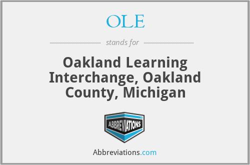 OLE - Oakland Learning Interchange, Oakland County, Michigan