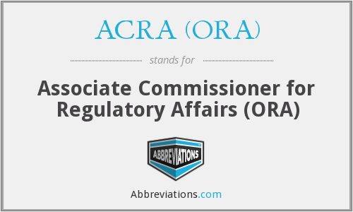 What does ACRA (ORA) stand for?