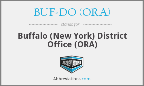 What does BUF-DO (ORA) stand for?