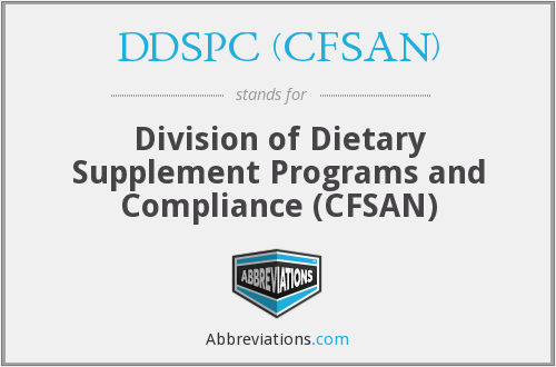 DDSPC (CFSAN) - Division of Dietary Supplement Programs and Compliance (CFSAN)