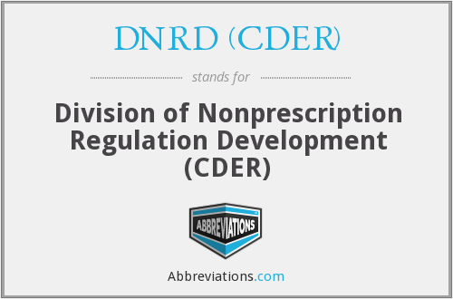 What does DNRD (CDER) stand for?