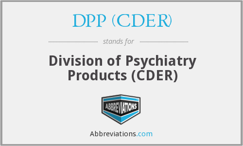 What does DPP (CDER) stand for?
