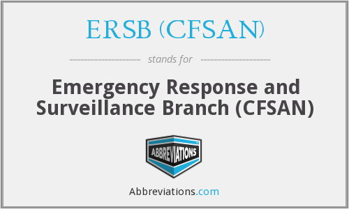 What does ERSB (CFSAN) stand for?