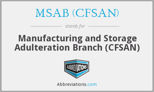What does MSAB (CFSAN) stand for?