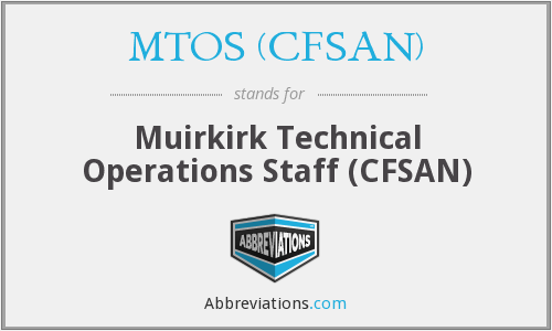 What does MTOS (CFSAN) stand for?