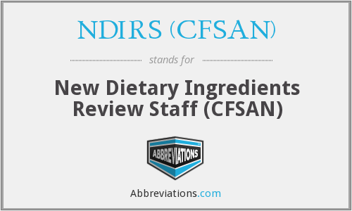 What does NDIRS (CFSAN) stand for?