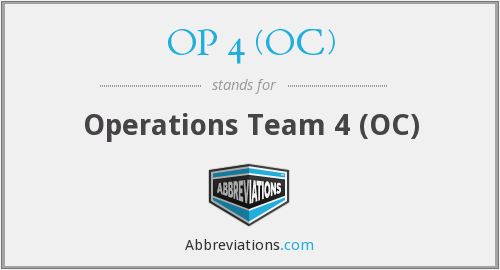 What does OP 4 (OC) stand for?