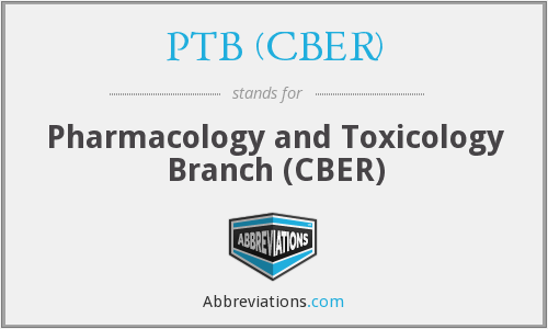 What does PTB (CBER) stand for?