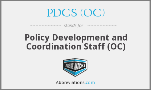 What does PDCS (OC) stand for?