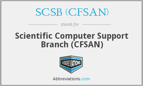 What does SCSB (CFSAN) stand for?