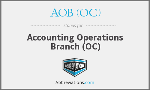 What does AOB (OC) stand for?