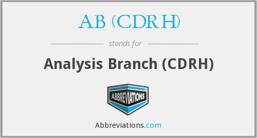 What does AB (CDRH) stand for?