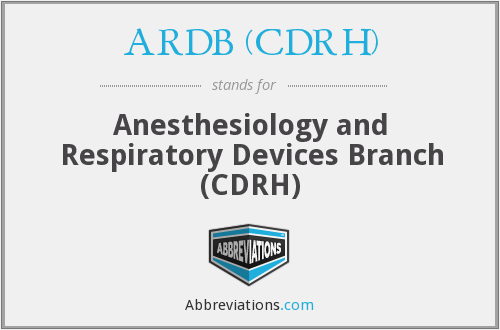 What does ARDB (CDRH) stand for?