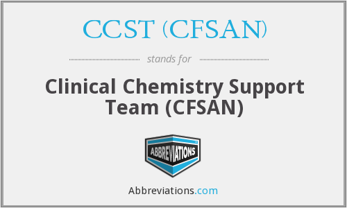 What does CCST (CFSAN) stand for?