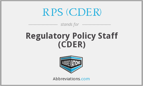 What does RPS (CDER) stand for?