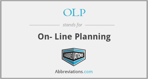 OLP - On- Line Planning