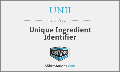 UNII - Unique Ingredient Identifier