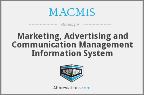 What does MACMIS stand for?
