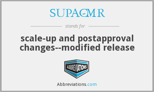 What does SUPAC-MR stand for?